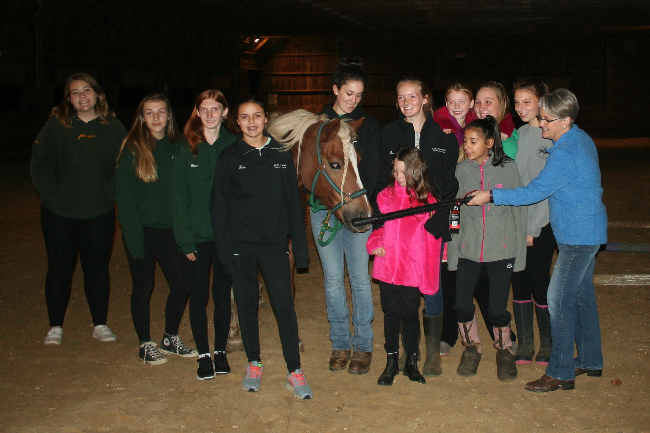 A visit with the Camp Marshall Equestrian Team